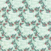 Moda Winterberry by Kate & Birdie - 3923 - Peace on Earth on Mint - 13141 12 - Cotton Fabric